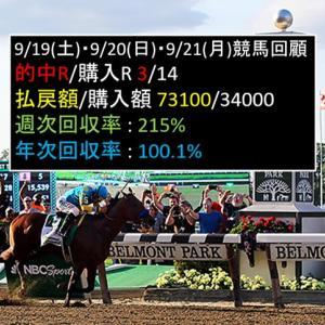 9/19(土)・9/20(日)・9/21(月)競馬回顧