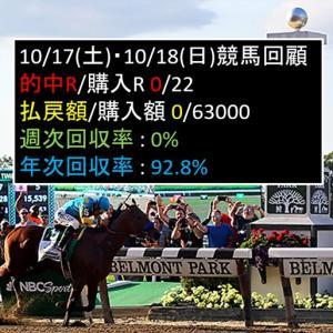 10/24(土)・10/25(日)競馬回顧