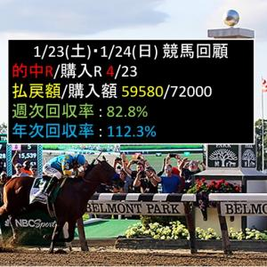 1/23(土)・1/24(日)競馬回顧