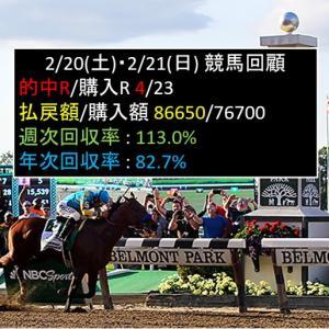 2/20(土)・2/21(日)競馬回顧