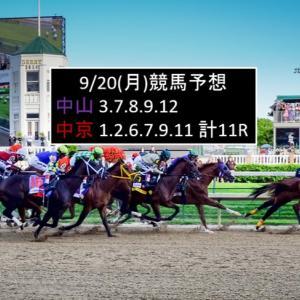 9/20(月)競馬予想