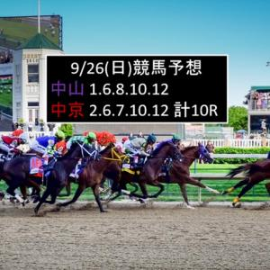 9/26(日)競馬予想