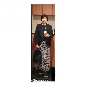 アラ還ぽっちゃり骨格ストレートコーデ「ZARA・花柄ロングスカートをジャケットで着てみました」