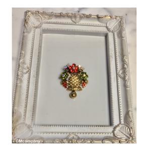 クリスマスまで1ヶ月・大好きなクリスマスブローチの季節到来です!!