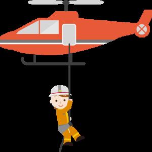 アナウンサー「今、孤立した住民が、消防隊のヘリコプターによって救助されアーッと!」