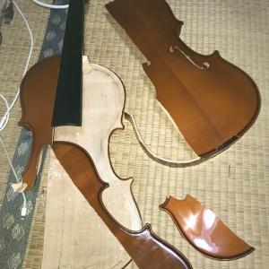 【悲報】高校生さん、受験のために親に楽器をぶち壊される。粉々になったバイオリンの写真を公開