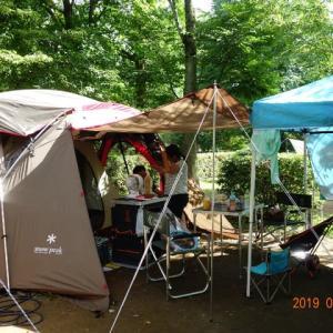 夏のキャンプは大変だ