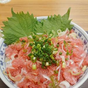 横浜橋通商店街のお食事処『たつ呑や』でネギトロ丼♪