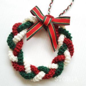 三つ編みのクリスマスリース