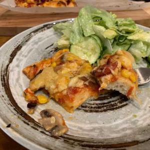 【簡単レシピ】混ぜるだけのパン生地でピザパン