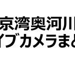 東京湾奥河川のライブカメラまとめ