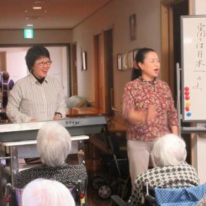 今日のレクリエーションは川島美恵子先生の音楽療法♬