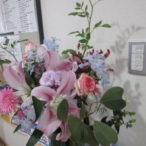 2人3脚の厳寒の生け花