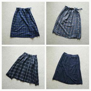 秋冬の通勤スカート