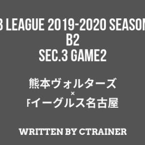 Bリーグ観戦レポートその13:B2第3節 GAME2 熊本×FE名古屋