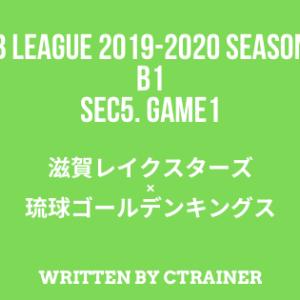 Bリーグ観戦レポートその22:B1第5節 GAME1 滋賀×琉球