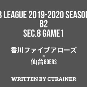 Bリーグ観戦レポートその25:B2第8節 GAME1 香川×仙台