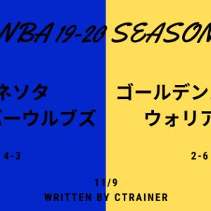 NBA観戦レポートその68:2019-2020シーズン ミネソタ・ティンバーウルブズ×ゴールデンステイト・ウォリアーズ
