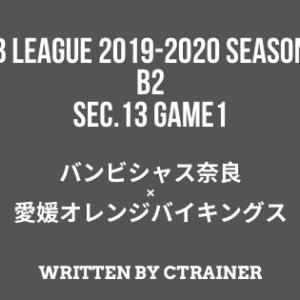 Bリーグ観戦レポートその39:B2第13節 GAME1 奈良×愛媛