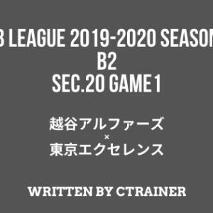 Bリーグ観戦レポートその48:B2第20節 GAME1 越谷×東京EX