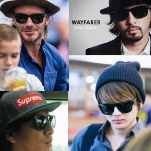 レイバンウェイファーラーサングラスに帽子は似合うのか?帽子×ウェイファーラーのコーディネイト