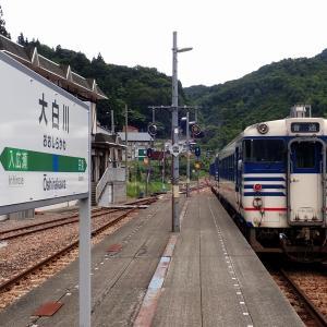 大白川駅(新潟県・JR只見線) 廃駅に挟まれた山里の駅