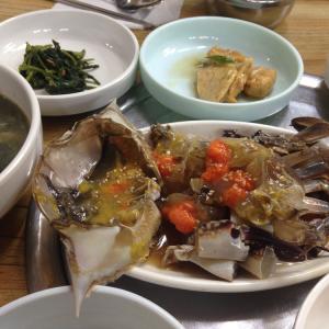 【韓国料理】カンジャンケジャン(간장게장)〜蟹の醤油漬けと阿峴洞のお店〜