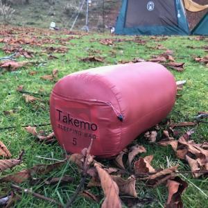 冬キャンプで愛用するタケモの5番。ブランドにこだわらない、質にこだわる方にオススメの寝袋。