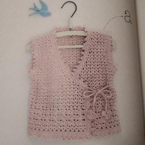 ベビー胴着を編み始める