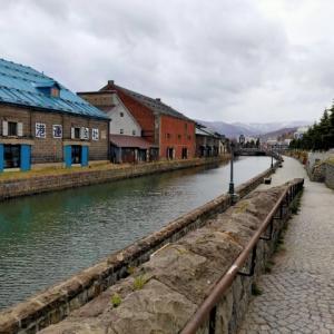 人気のない小樽運河