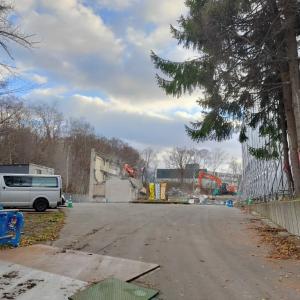 緑小学校の解体工事