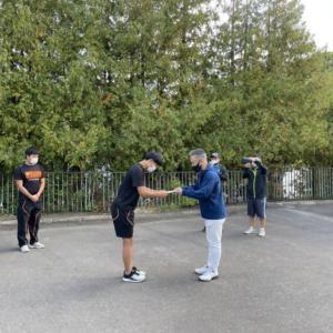小樽潮陵高校ラグビー部全道大会へ出発