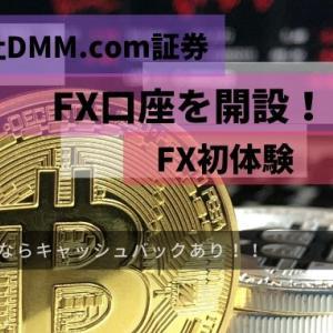 株式会社DMM.com証券FX口座を開設!今ならキャッシュバックあり✨