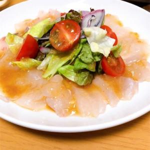イタリアンのド定番「鯛のカルパッチョ」