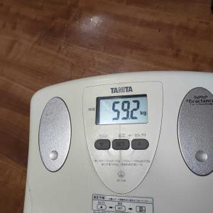 【断酒63日】体重測定。