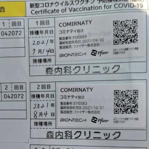 【コロナワクチン接種】2回目完了