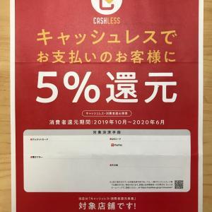 5%還元「キャッシュレス・消費者還元事業」対象店舗になりました