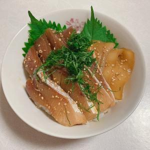 海鮮丼の話が羨ましかったので安い刺身で漬け丼作る(^ω^)