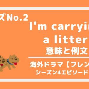 フレーズNo.2 I'm carrying a litter 【フレンズ】