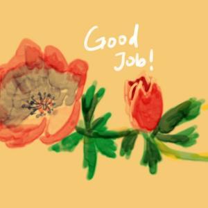 花の絵を描く2Wチャレンジ DAY4