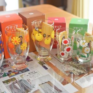 昭和レトロなグラスが可愛らしい