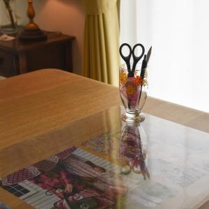 昭和レトロの欠けたグラスを再利用、最近食べたもの