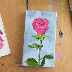 バラの花の絵に挑戦