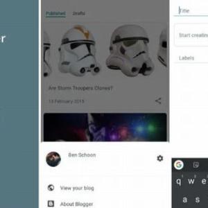 BloggerはAndroidのUIを大幅に更新(BloggerのUpdate)