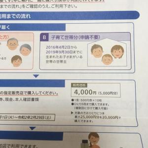 増税後、5000円お得に買い物できる券