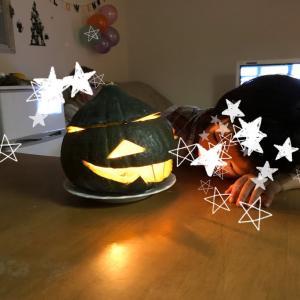 ハロウィンディスプレイ☆本物かぼちゃで作ったぞー♪ジャック・オー・ランタン