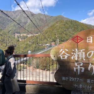 怖かった〜〜!☆谷瀬の吊り橋(奈良県十津川村)