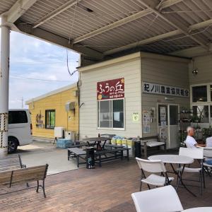 ファーマーズマーケット紀の川「風の丘」のオープンカフェでランチ