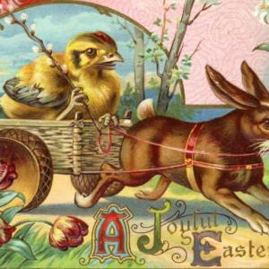 イースターのウサギとプランター♪