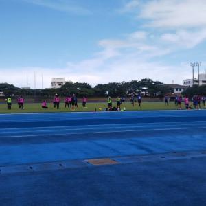 中学女子と高校女子のトレーニングマッチ